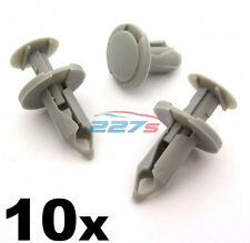 10x 8mm Long Light Grey Trim Clips- Perfect for VW T4 & T5 Carpet & Van Linings