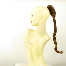 Hairpiece ponytail plait 19.69 long golden brown wick 4/6bt27b