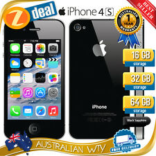 APPLE iPHONE 4S 64GB BLACK 100% UNLOCKED + 12MTH AUS WARRANTY (SEALED BOX)