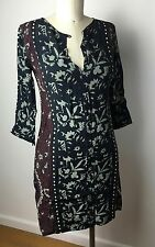 NWT Cleobella Viscose Multicolor Pattern 3/4 Sleeve Short Tunic Dress XS