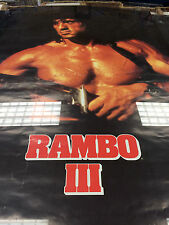 Rambo 3 III 1988 Knife Scandecor Sylvester Stallone vintage wall poster PBX3036