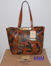 NEW WITH TAGS PATRICIA NASH WORLD TRAVELER VINTAGE PATCH BENVENUTO TOTE BAG $199