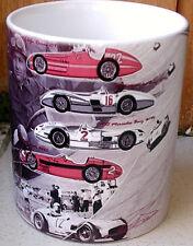 Juan Manuel Fangio Maserati, Alfa Romeo, Mercedes Argentina Tribute ceramic MUG