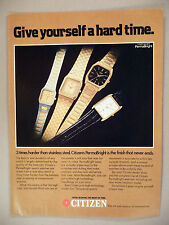 Citizen PermaBright Watch PRINT AD - 1982 ~ watches, wristwatch
