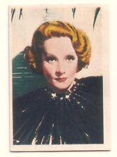 1936 Spanish Nestle Film Star Paper Thin Stamp Sticker  #18  Marlene Dietrich
