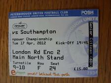 17/04/2012 Ticket: Peterborough United v Southampton