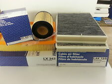 BMW E39 520i  Mahle Oil Air Pollen Filters Service Kit OX154/1D LX343 LAK73/S