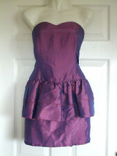 SIZE 12 PURPLE DRESS PEPLUM PROM Womens PARTY COCKTAIL Summer Ladies Occasion