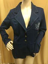 Damen Sweatjacke dünne Jacke dunkelblau Gr. 40 von Buffalo