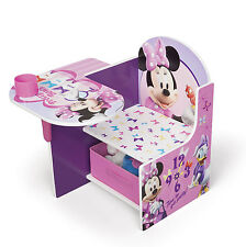 DELTA CHILDREN DISNEY MINNIE MOUSE KIDS STUDY PLAYROOM CHAIR DESK & STORAGE BIN