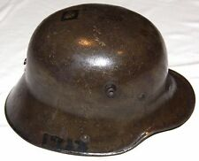 ORIGINAL WWI GERMAN M-1916 STEEL HELMET W/ LINER & DOUGHBOY ART