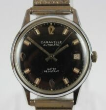 1972 N2 Bulova Caravelle Automatic Date Water Resistant 33mm Mens Watch LOT#0208