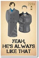 Sherlock & Watson - Yeah He's Always Like That - NEW Humor Poster