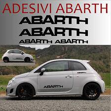 4 adesivi abarth stickers tuning scorpione auto fiat 500 595 store punto