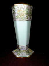 Japanese Nippon YELLOW ROSE Hat Pin Holder/Vase 1900s