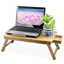 Portable Bamboo Laptop Desk Folding Laptop Notebook Computer Desk Bed Tray Table