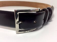 ETRO Milano Brown Leather Trouser Belt