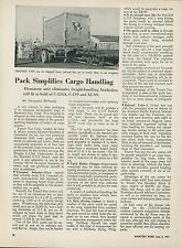 1951 Aviation Article New Cargo Container for C-124 C-119 XC-99 Transport Planes