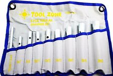 8 Piece Tubular Metric Box Spanner Wrench Set 6mm - 22mm in Tool Roll SP073