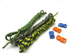 Outdoor Hiking Survival  Paracord Rope 7 Core Strand 2.4M +buckle 3 colors G-03