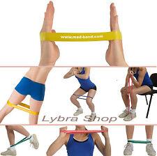 Msd BAND LOOP - GIALLO - LEGGERO elastico CHIUSO fascia Pilates Yoga Fitness