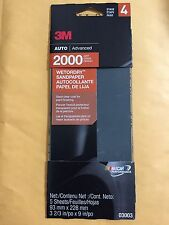 3M Auto Advanced 2000 Grit Wetordry Sandpaper 03003 5 Sheets Per Pack