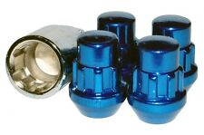 Capped Locking Wheel Nuts STEEL - BLUE -M12 x 1.25 Nissan Subaru