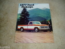 1977 Ford pickup truck F-100 F-150 F-250 F-350 sales brochure dealer literature