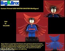 MISTER SINISTER Marvel Custom Printed LEGO Minifigure w/RED BLUE Custom Cape