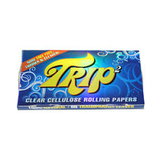 1x Trip 2 CLEAR CELLULOSE 1 1/4 Rolling Papers HIGH QUALITY FROM BRAZIL!