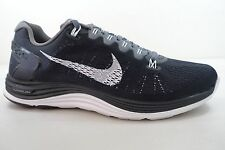 MEN'S NIKE LUNARGLIDE+ 5 SHOES SIZE 8 black white grey 599160 010