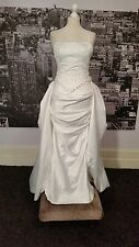 Sequinned Sample Gown, Detachable Train (White-Size 10) Wedding, Theatre etc