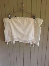 Vintage Crown-ette 17-1634-9 open bottom girdle w/ 6 garters & zipper sz 50
