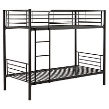Twin over Twin Bunk Beds Metal Frame Ladder for Children Adult Kids Bedroom Dorm