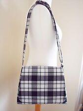 Tartan Messenger bag Black & White Cross body Bag Shoulder bag handmade +kiltpin