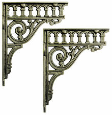 """Pair of 8"""" / 21cm Large Cast Iron Classical Shelf Brackets   period wall support"""