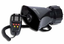 Zone Tech 5 Sound Car Warning Alarm Police Fire Siren Horn PA Speaker MIC System
