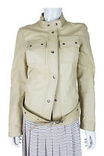 *PRADA* CREAM LEATHER JACKET (44)