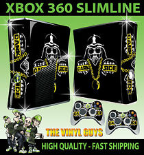 Xbox 360 Slim Lado Oscuro Darth Vader Star Wars Bling Sticker Skin & 2 X Pad Skins