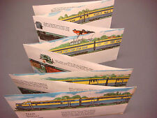 Train Display Streamer 1950's Passenger Freight Foldout Colorful Pictures