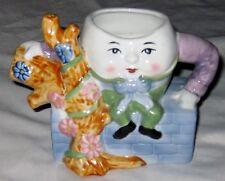 """Multicolor 5"""" Humpty Dumpty Sat on a Wall Figurine Tea Pot"""
