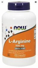 L-Arginine 250 Caps 500 mg by Now Foods FAST SHIPPING