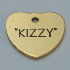 Quality Engraved Pet tag  - Mini  20mm Heart Brass tag