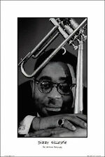 DIZZY GILLESPIE ART PRINT POSTER BY ARTIST TED WILLIAMS - LARGE SIZE 24 x 36