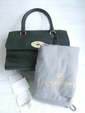 MULBERRY Del Rey Forest Green Leather Zipped Hand Bag