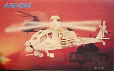 Jeux bois Enfant Puzzle Construction Maquette Bois Hélicoptère APACHE US