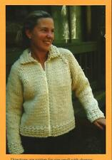 Weekend Neck Down Jacket Women's Adult Sweater Knitting Pure & Simple Pattern