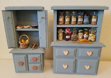 Vintage Dollhouse Country Style Pie Safe Cupboard with Canasters pie cake cookie