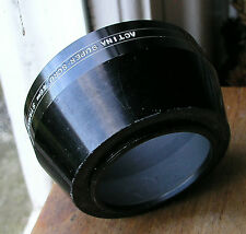 46mm screw in  metal  Actina Lens Hood standard & telephoto ,used