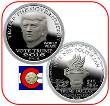 2016 Trump Proof-Like Silver Liberty Dollar in airtite - Type II Coin